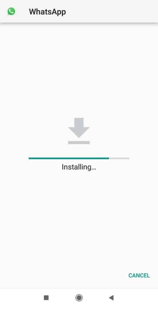 GBWA apk installing image
