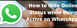 How to hide online status while keeping active on WhatsApp